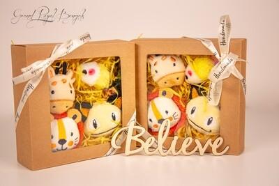 Yellow Handmade 4 Toys Set