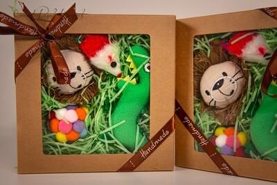 Green Handmade 4 Toys Set