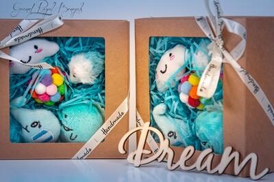 Blue Handmade 4 Toys Set