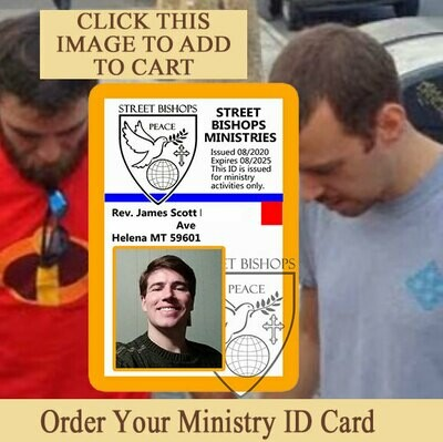 Street Bishops Ministry ID Card