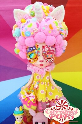 Caramelpops Custom Art Blythe Doll - Boba Unicorn