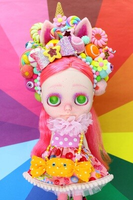 Sweet dress set for Neo Blythe - Sweet Nyanko