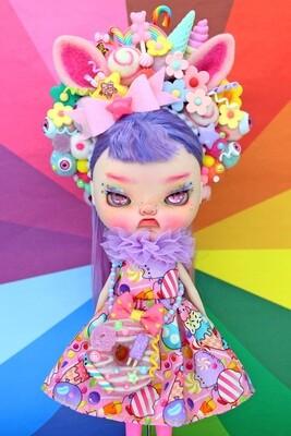 Sweet dress set for Neo Blythe - Pusheen Candy