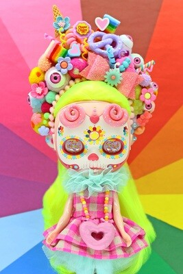 Caramelpops Custom Art Blythe Doll - Candievera Kiko