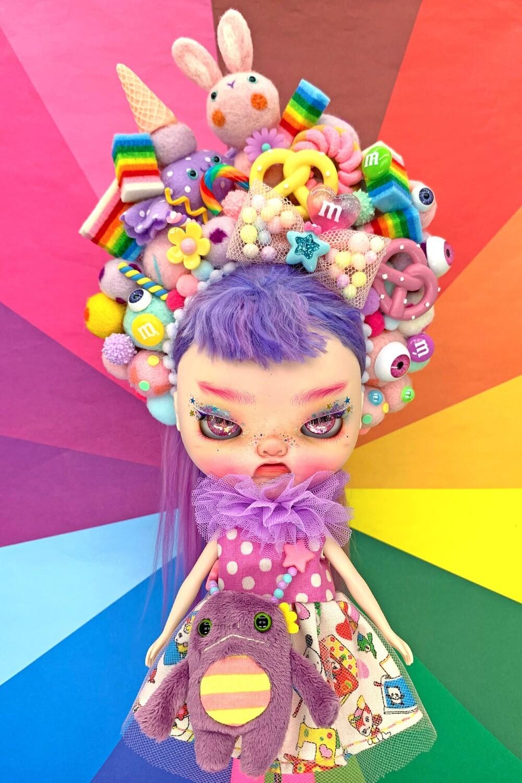 Sweet dress set for Neo Blythe - Lavender Sweets