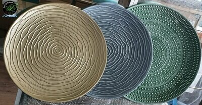 Elegant ROSE Coffee Table blue/gold/bronze
