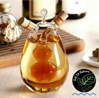 Olive Oil & Balsamic Vinegar Glass Double Container