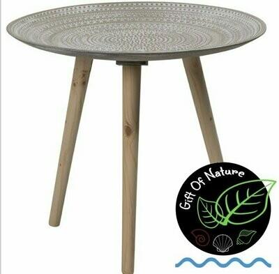 Mandala Grey Wooden Coffee Table/Tray