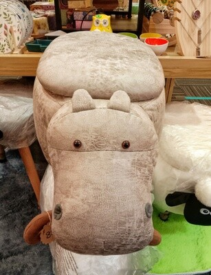 Cute HIPPO Stool with Storage