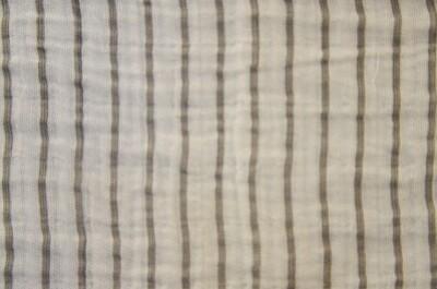 Grey Striped Gauze