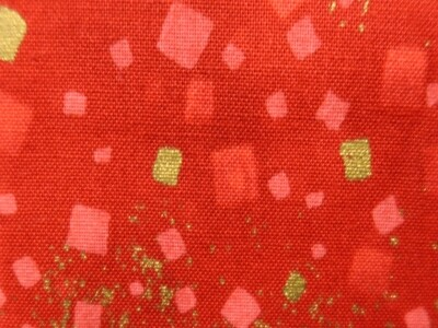 Red Confetti with Gold
