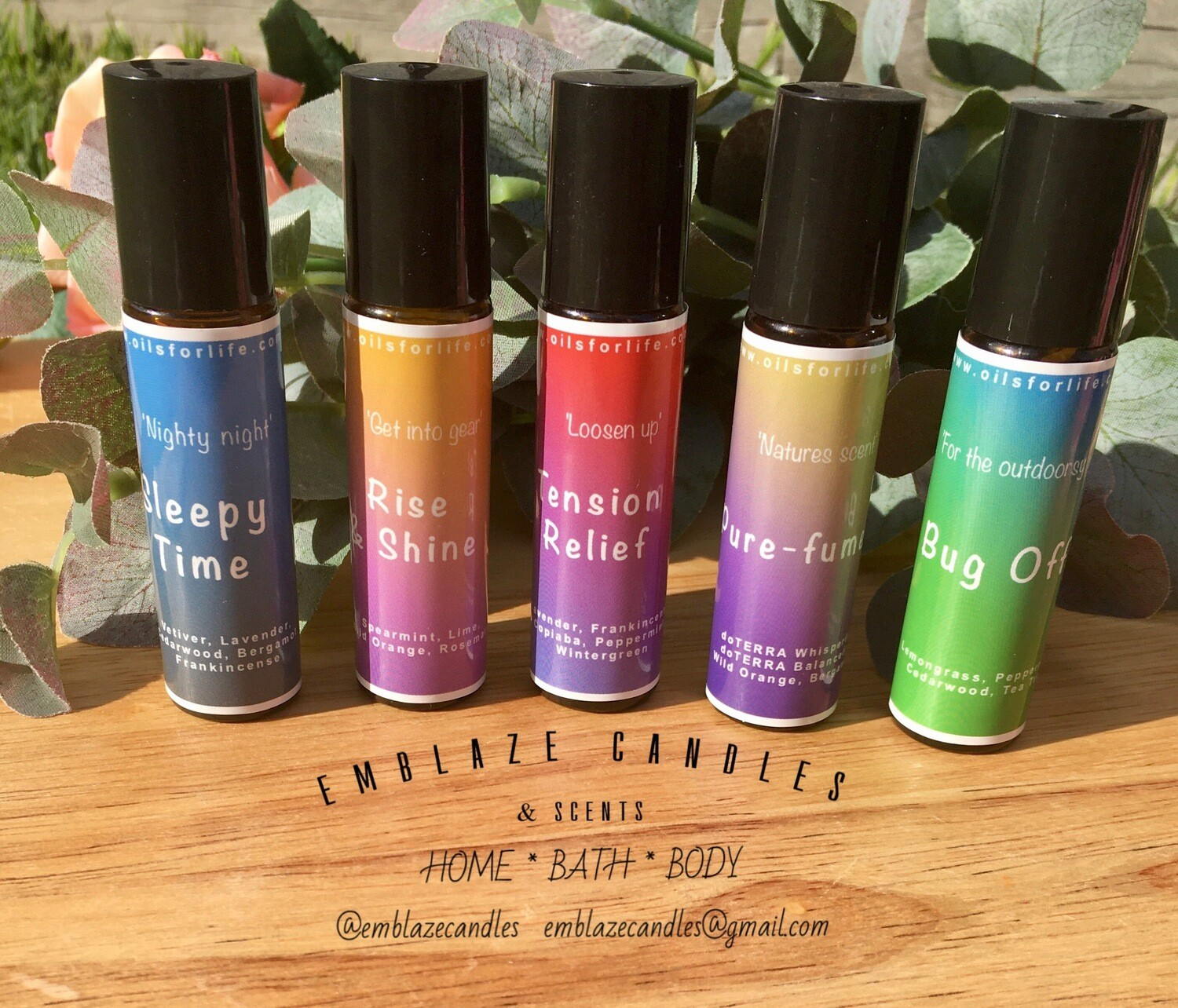 Aromatherapy Rollerblends - Bright Collection