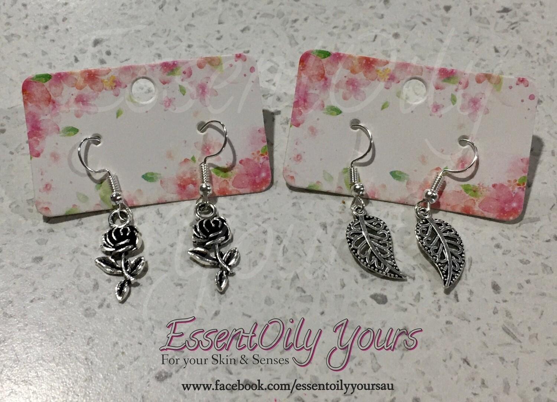 Rose or Leaf earrings