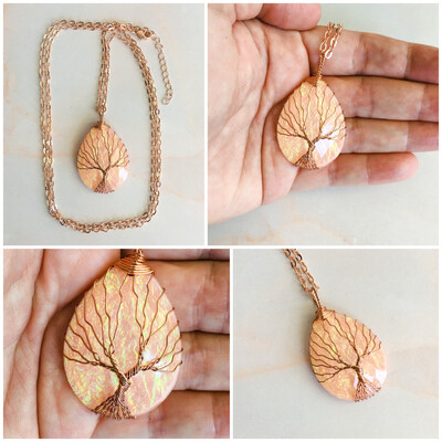 Tree Of Life Necklace - Pink