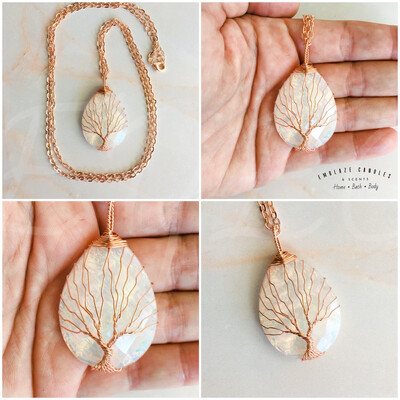 Tree Of Life Necklace - White