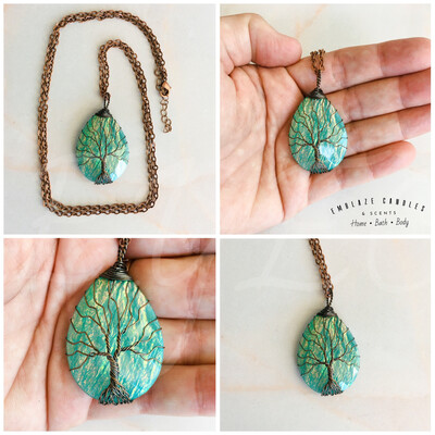 Tree Of Life Necklace - Aqua