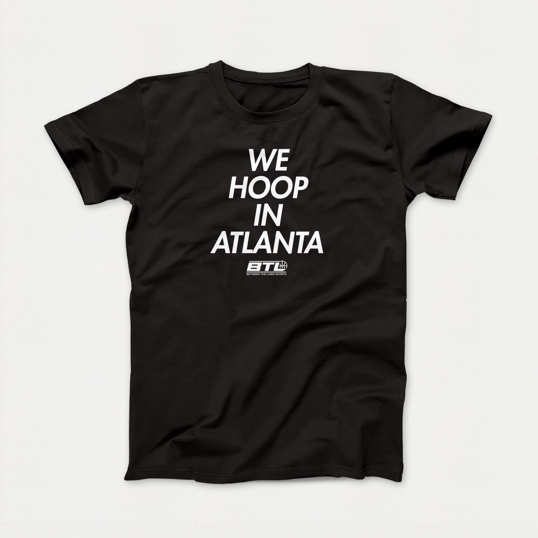 We Hoop Black Tee