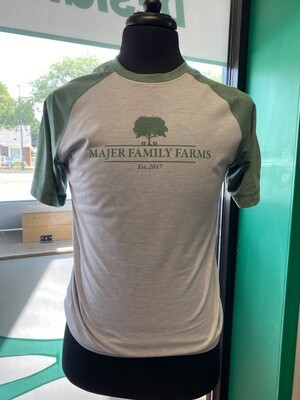 Forest Green / Gray Heather Tri-Blend Wicking Tee