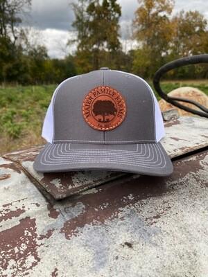 Custom Leather Patch Trucker Hat