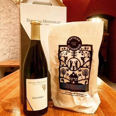 Retour en terre neuchâteloise (Fondue de L'Artisan Classic 800g + une bouteille de Non Filtré du Domaine de Montmollin)