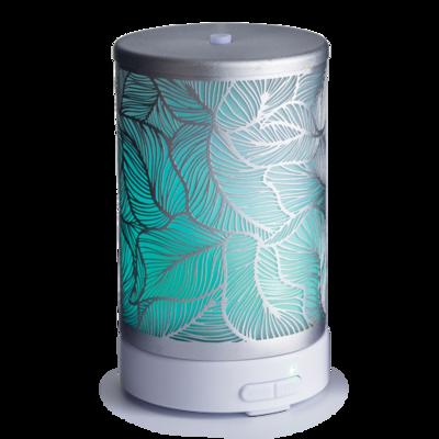 Ultra Sonic Essential Oil Diffuser Silver Leaf