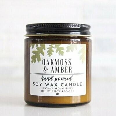 Oak & Amber 4oz Candle