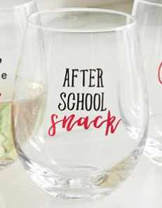 After School Wine Glass
