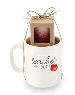 Apple Teacher Mug and Shot Set