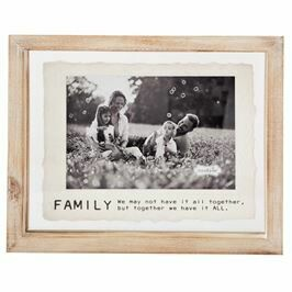 4 X 6 Family Glass Wood Frame