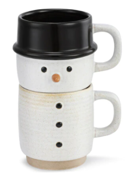 Snowman Stacked Mugs