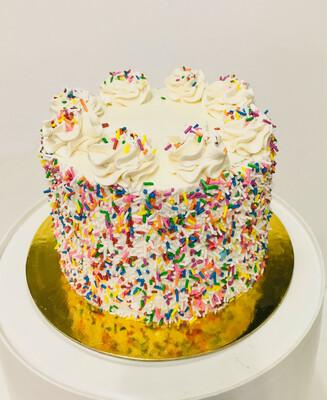 "6"" Confetti Birthday Cake - Same day"