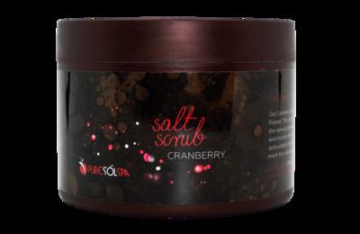 Cranberry Salt Scrub