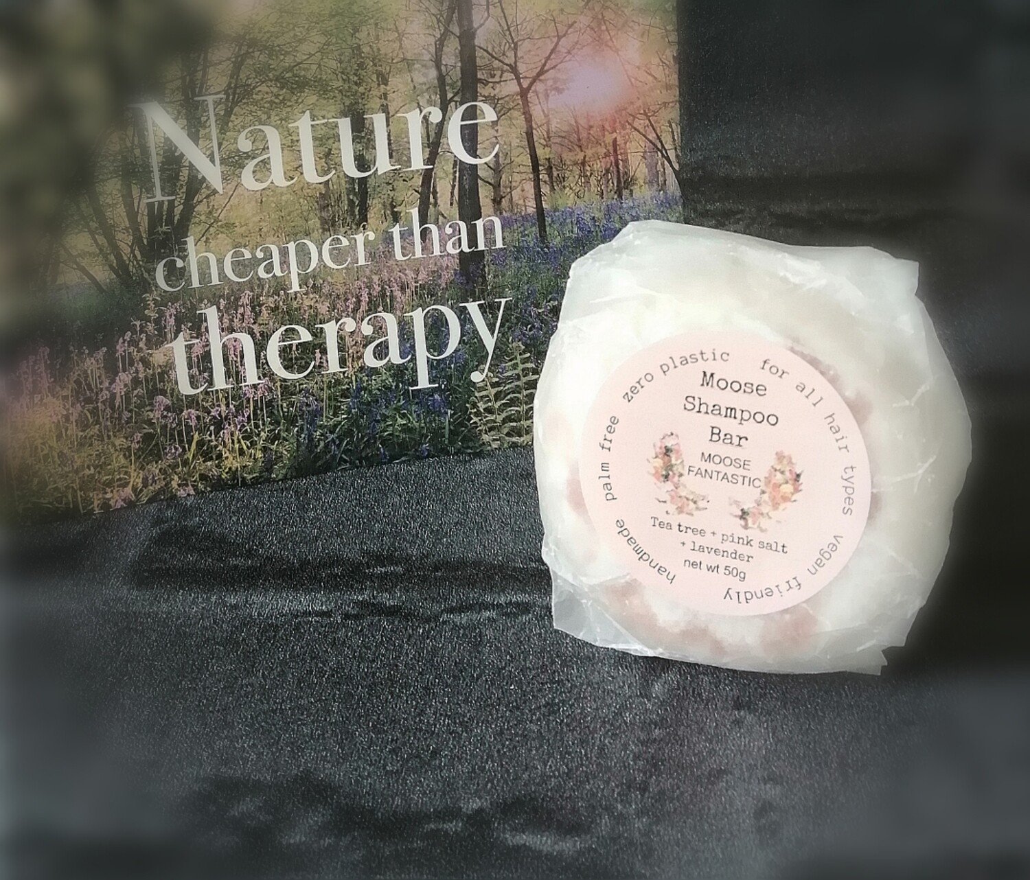 Moose shampoo bar tea tree, pink salt & lavender