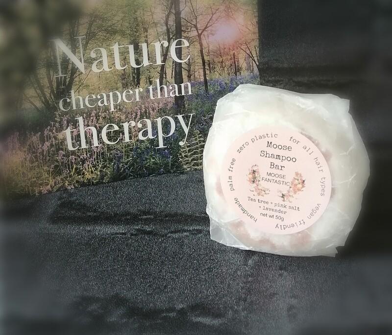 Moose shampoo bar tea tree, pink salt & lavender