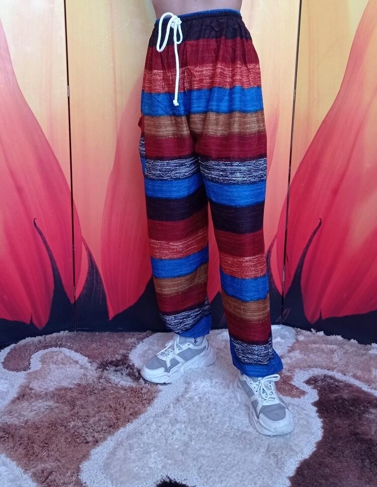 Свободные летние штаны в разноцветную полоску, второй цветовой вариант