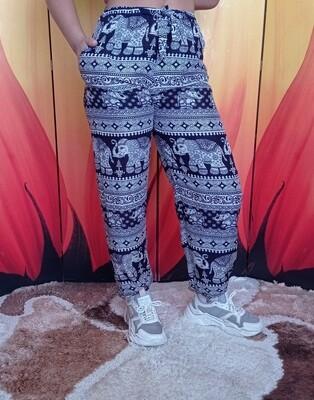Лёгкие штаны с завязками на талии, тёмно-синие
