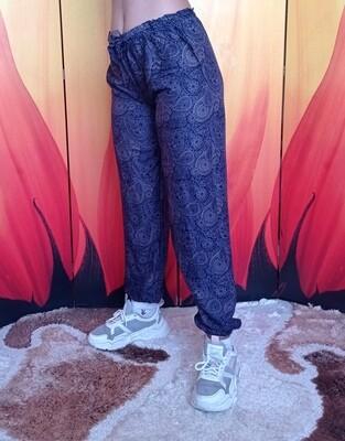 Лёгкие штаны с завязками на талии, серебристо-синие