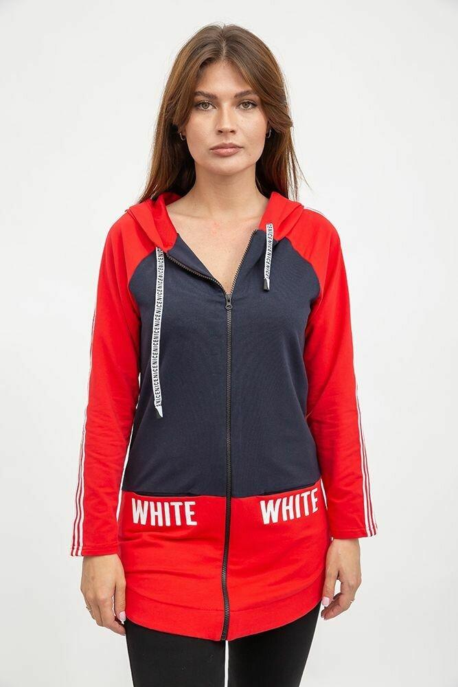 Спорт кофта женская цвет Сине-красный