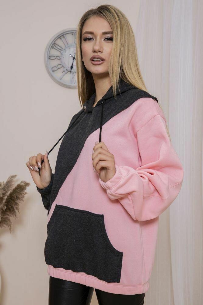 Худи женский цвет Грифельно-розовый