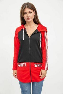 Спорт кофта женская цвет Черно-красный