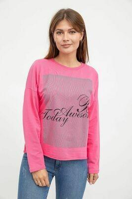Свитшот женский цвет Розовый