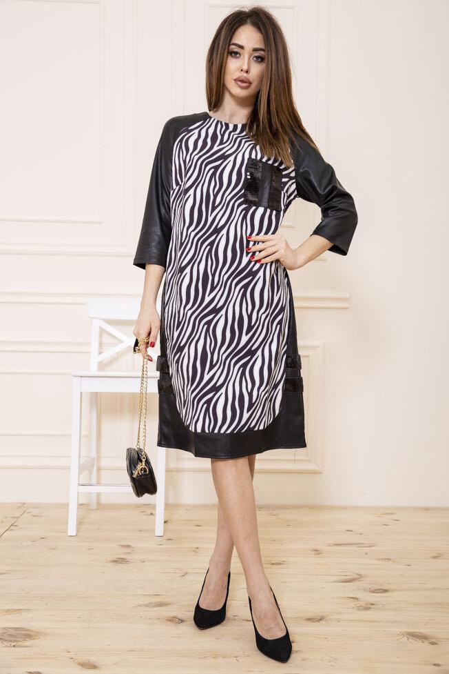 Платье цвет Черно-белый