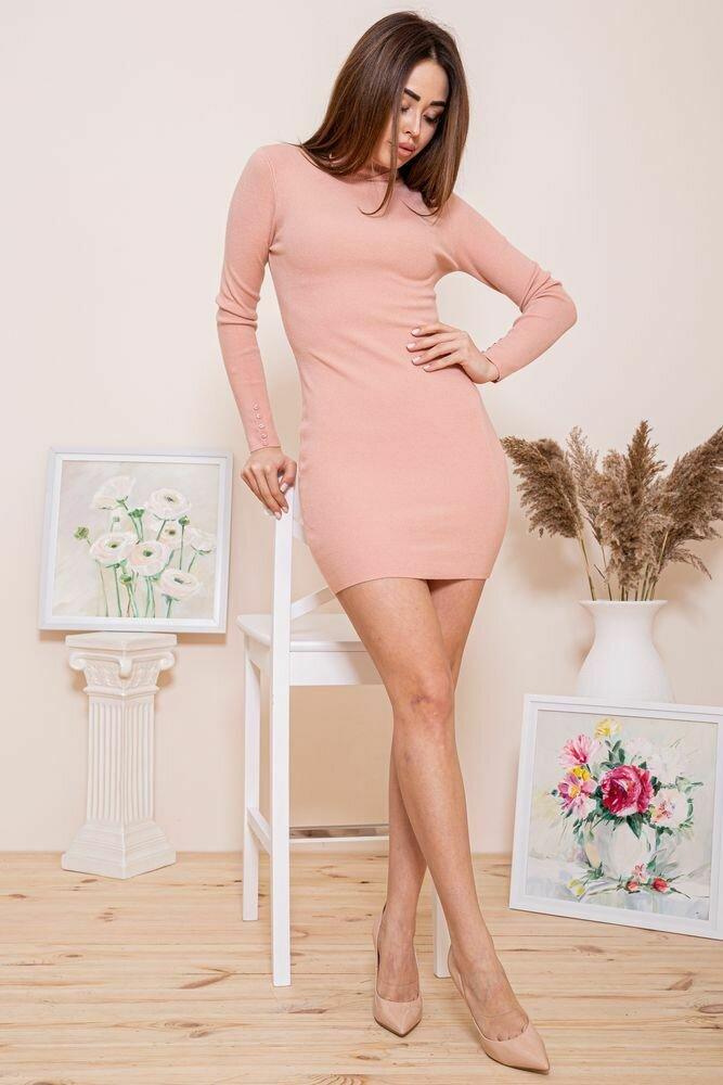 Платье-гольф цвет Персиковый