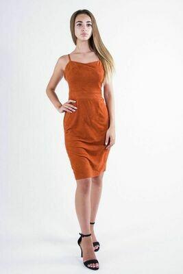 Платье женское цвет Терракотовый