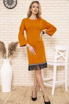 Платье женское цвет Горчичный