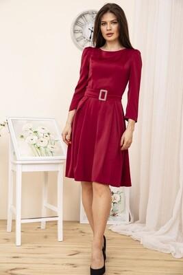 Вечернее Платье женское с поясом, цвет Бордовый