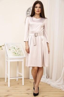 Вечернее Платье женское с поясом, цвет Бежевый