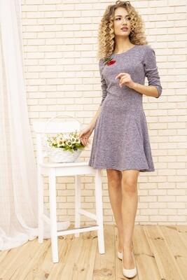 Платье расклешенное цвет Сиреневый