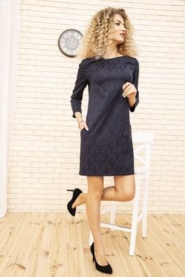 Платье мини, с карманами, цвет Темно-синий