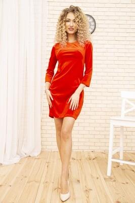 Платье мини, велюровое, цвет Красный
